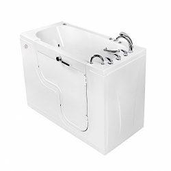 Ellas Bubbles OLA3060D-R-hHB Transfer 60 Air and Hydro Massage and Heated Seat Walk-In Bathtub w ...