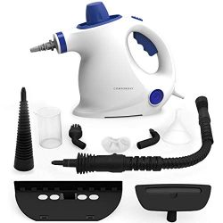 Comforday Steam Multi Purpose Cleaners Carpet High Pressure Chemical Free Steamer with 9-Piece A ...