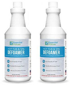 Essential Values 2 Pack Hot Tub, Pool & Spa Defoamer (32 OZ) – Quickly Removes Foam Wi ...