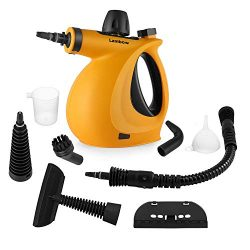 Handheld Pressurized Steam Cleaner with 9-Piece Accessory Set – Multi-Purpose and Multi-Su ...