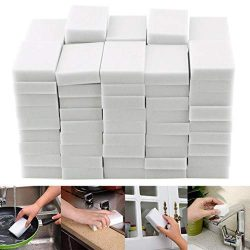 Oineke 50Pcs Magic Cleaning Eraser Sponge, 50 Counts Melamine Sponges in Bulk – Multi Surf ...