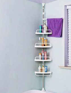 ADOVEL 4 Layer Corner Shower Caddy, Adjustable Shower Shelf, Constant Tension Stainless Steel Po ...