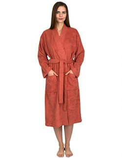 TowelSelections Women's Robe Turkish Cotton Terry Kimono Bathrobe X-Small/Small Ginger Spice