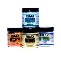 Original Relax Aroma Therapy Scented Bath Salt Spa Crystals, 4 Ounce Bottles, Package of 4, Soak ...