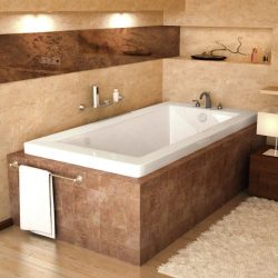 Atlantis Whirlpools 3060vnar Venetian Rectangular Air Jetted Bathtub, 30 X 60, Right Drain, White