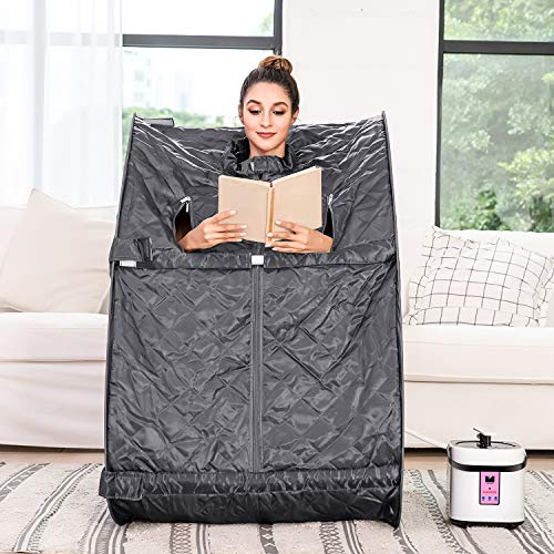 Aceshin Portable Steam Sauna Home Spa, Personal Therapeutic Sauna Weight Loss Slimming Detox wit ...