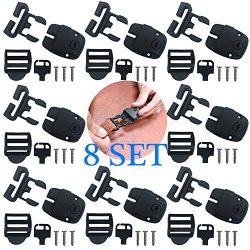 8 Set Spa Hot Tub Cover Broken Latch Repair Kit Have Slot, Replace Latches Clip Lock with Keys a ...