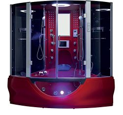 2019 Valencia Computerized Steam Shower Sauna with Jetted jacuzzi Whirlpool Massage Bathtub Spa  ...