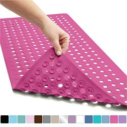 Gorilla Grip Original Patented Bath, Shower, Tub Mat, 35×16, Washable, Antibacterial, BPA,  ...