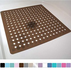Gorilla Grip Original Patented Bath, Shower, and Tub Mat, 21×21, Machine Washable, Antibact ...