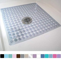 Gorilla Grip Original Patented Bath, Shower, Tub Mat, 21×21, Machine Washable, Antibacteria ...