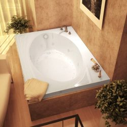 Atlantis Whirlpools 4384vdr Vogue Rectangular Air & Whirlpool Bathtub, 43 X 84, Right Drain, ...