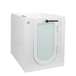 Ella Front Entry Acrylic Walk-In Bathtub with Heated Seat, Right Hinge Door, 2″ Single Dra ...