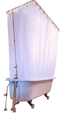 Clawfoot Designs Heavy Duty PEVA Tub Shower Curtain No Odor Extra Wide 180×70
