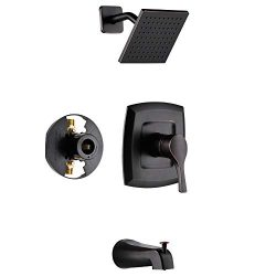 Gabrylly Shower Faucet, Single-Function Tub and Shower Trim Kit with 6″ Spray Shower Head  ...