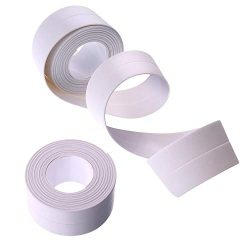 Kitchen Waterproof Tape,2 PCS Self-Adhesive Caulking Tape,Bathtub Wall Edge Protector,Flexible C ...