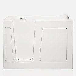 American Tubs CARE3054 29.5″ x 54″ Soaker Walk-in Bathtub – Left Drain (White)