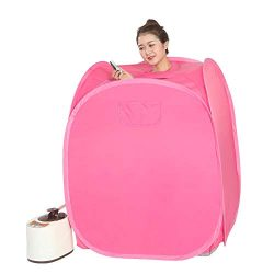 Smartmak Portable Steam Home Sauna Upgrade 2L Steamer, Lightweight Tent, One Person Full Body Sp ...