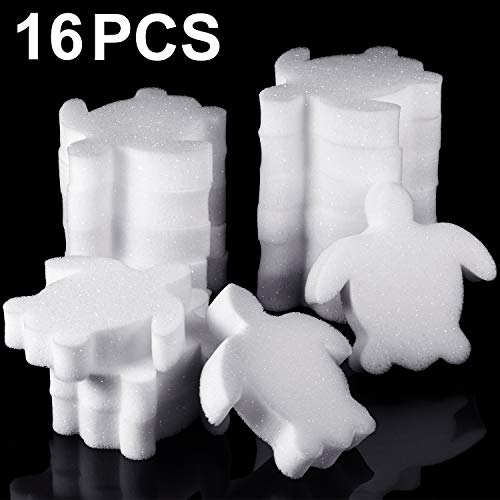 Boao 16 Pieces Creamy Oil Absorbing Scum Sponge for Hot Tub Swimming Pool and Spa (Sea Turtle-Sh ...