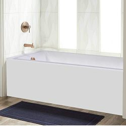 Fine Fixtures Acrylic/Fiberglass Soaking Bathtub, Exclusive Extra Small Size 48″ x 32̸ ...