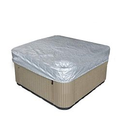 Outdoor Large Square Hot Tub Cover,Pool Spa Square Hot Tub Bath Cover Cap,Waterproof UV Resistan ...