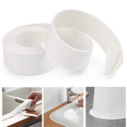 AurGun Caulk Strip PE Self-Adhesive Waterproof Sealing Tape Decorative Sealant Trim for Kitchen  ...