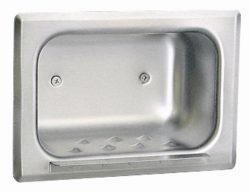 Bobrick 4380 304 Stainless Steel Recessed Heavy-Duty Soap Dish, Matte Polished Finish, 7-3/16 ...