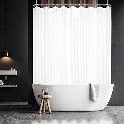 Barossa Design Waffle Weave Clawfoot Tub Shower Curtain 180 x 70 Inch Wrap Around – Heavyw ...