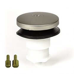 PF WaterWorks PF0935-BN Universal Touch (Tip Toe or Foot Actuated) Bathtub/Bath Tub Drain Stoppe ...
