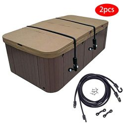 Adjustable Hot Tub Spa Cover Secure Straps, Tub Spa Cover Lock, The Easy-Install Solution for Se ...