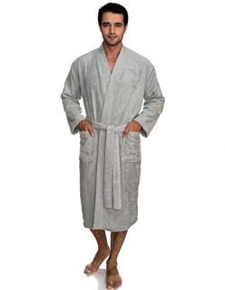 TowelSelections Men's Robe, Turkish Cotton Terry Kimono Bathrobe X-Large/XX-Large High-Rise