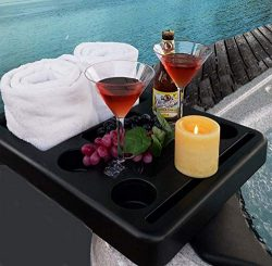 Hot Tub Towel Holder, Snack Tray, Phione and Tablet Stand