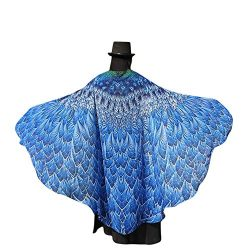 DBHAWK Womens Soft Fabric Butterfly Wings Shawl Scarves Fairy Ladies Nymph Pixie Poncho Costume  ...