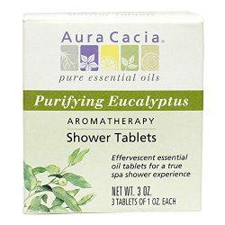 Aura Cacia – Purifying Eucalyptus Shower Tablet |Pure Essential Oils | Contains 3 Individu ...