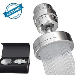 15 Stage Shower Filter and High Pressure Shower Head, Removes Chlorine, Impurities & Unpleas ...