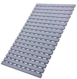 I FRMMY Non Slip Bath Shower Floor Mat with Drain Hole- Anti Slip Bathroom Stall Mat-Gray