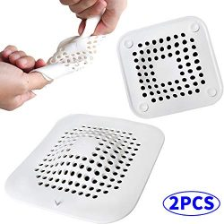 Hair Catch, Drain Protector Silicone, Hair Trap, Shower Drain Cover, Sink Strainer, Sink Catcher ...
