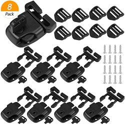 Hysagtek 8 Set Spa Hot Tub Cover Clips Replace Latches Clip Lock with Keys and Hardwares, Black