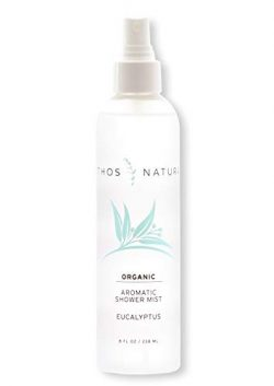 Ethos Natura Organic Eucalyptus Aromatic Shower Mist, Luxury Eucalyptus Oil Steam Shower Spray f ...