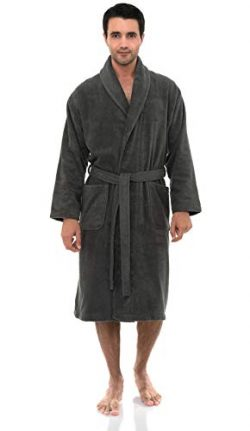 TowelSelections Men's Robe, Turkish Cotton Terry Shawl Bathrobe Large/X-Large Castlerock