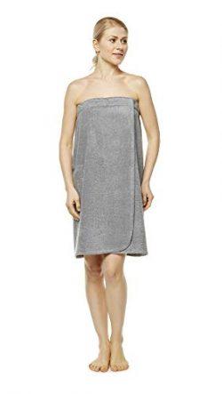 Arus Women's GOTS Certified Organic 100% Turkish Terry Cotton Adjustable Closure Bath Wrap ...