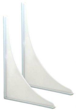 EZ-FLO 15261 Shower Splash Guard, White