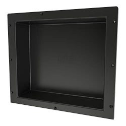 Redi Niche Single Recessed Shower Shelf – Black, One Inner Shelf, 16-Inch Width x 14-Inch  ...