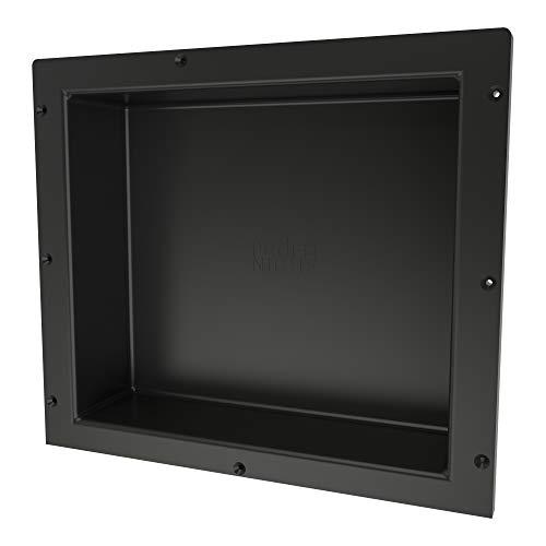 Redi Niche Single Recessed Shower Shelf – Black, One Inner Shelf, 16-Inch Width x 14-Inch  ...