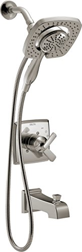 Delta Faucet Ashlyn 17 Series Dual-Function Tub and Shower Trim Kit with 2-Spray Touch-Clean In2 ...