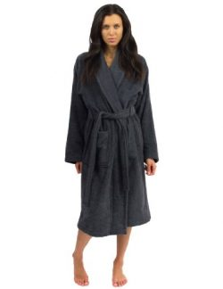 TowelSelections Terry Cloth Bathrobe – Shawl Collar Terry Robe for Women and Men, 100% Tur ...