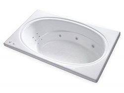 Carver Tubs – SR7242-72″L x 42″W x 19″H – White Drop In Bathtub &# ...