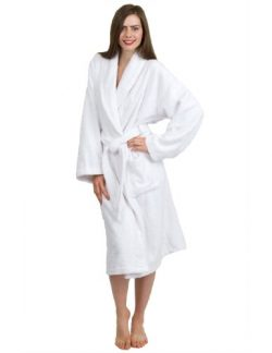 TowelSelections Turkish Terry Bathrobe – 100% Egyptian Cotton, Shawl Collar Terry Robe for ...