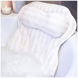Luxury Bath Pillow Bathtub Pillow – Ergonomic Neck Support Like No Other – 3D Air Me ...