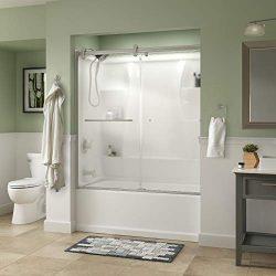 Delta Shower Doors SD3927440 Classic Semi-Frameless Contemporary Sliding Bathtub 60″ x58-3 ...